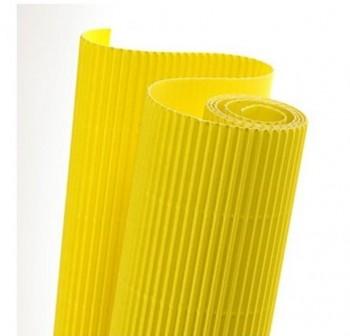 Blister 5 hojas cartón ondulado 50X70cm  amarillo