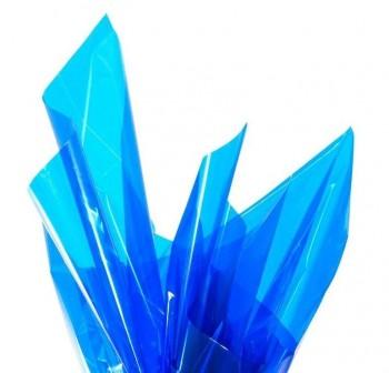 Rollo de celofan continuo 0,7x5m cristal azul