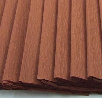 Rollo de papel crespon 0,5x2,50m marrón palido