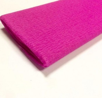 Rollo de papel crespon 0,5x2,50m rosa fuerte
