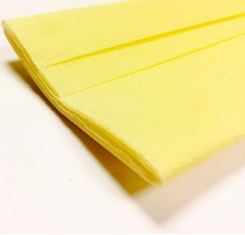 Rollo de papel crespon 0,5x2,50m  amarillo
