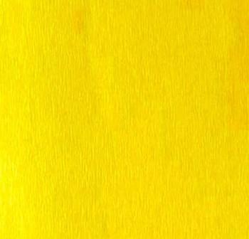 Rollo de papel crespon 0,5x2,50m  amarillo canario