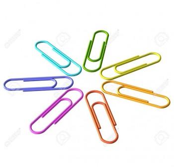 APLI Clips colores nº2 32mm c-100udes