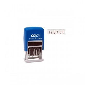 Numerador entintaje automatico Colop  4mm, 6 bandas
