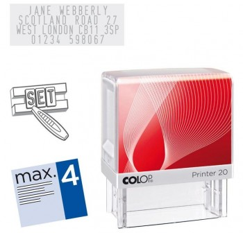 Sello automatico Colop printer 20 14x38mm