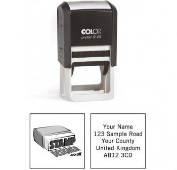 Sello automatico Colop printer q-43 cuadrado 43x43Mm