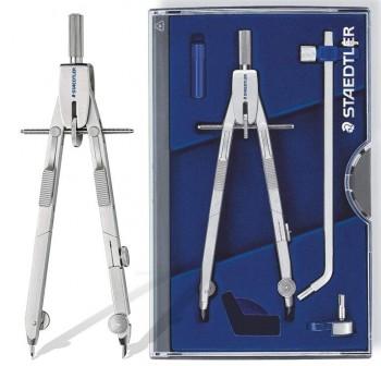 Compás Staedtler mars 555 Tubo minas, Adaptador para Pluma técnica y Adaptador universal