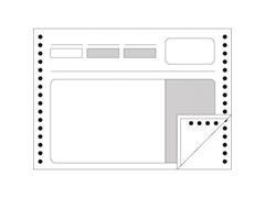Caja 700 formulario albaranes papel continuo 2 copias