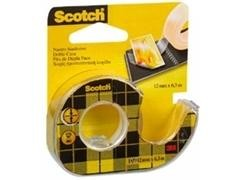 Rollo Cinta adhesiva doble cara Scotch 12mmx6m en Portarollos