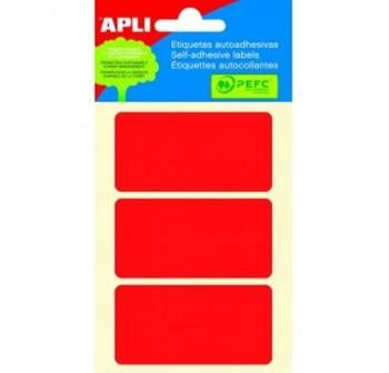 Pack 48 etiquetas escritura manual 34x67mm rojo