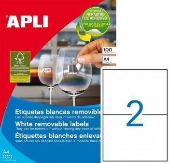 Pack 200 etiquetas cantos rectos A4 210X148mm