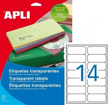 Pack 280 etiquetas poliester 99,1x38,1mm trasnparente