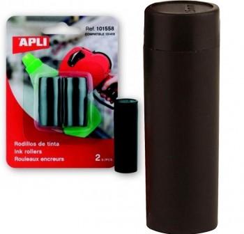 Recambio de tinta negra Apli para máquinas etiquetadoras