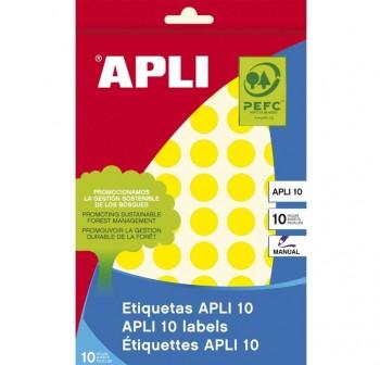 Pack 128 etiquetas escritura manual color 25x40mm amarillo