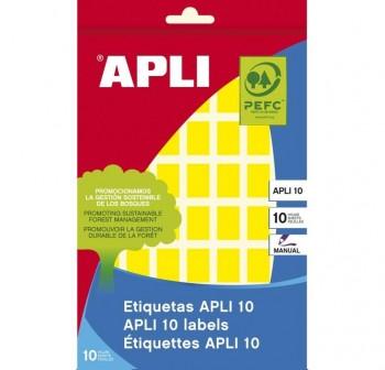 Pack 448 etiquetas escritura manual color 12x18mm amarillo