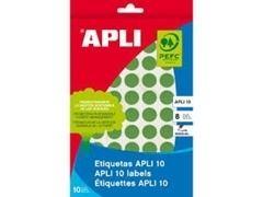 Pack 128 etiquetas escritura manual color 25x40mm verde