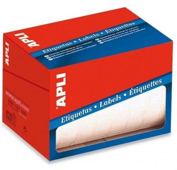 Rollo 5600 etiquetas escritura manual cantos romos 12x18mm