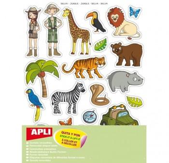Pack 240 gomets removibles tematicos la selva
