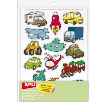 Pack 180 gomets removibles tematicos transportes