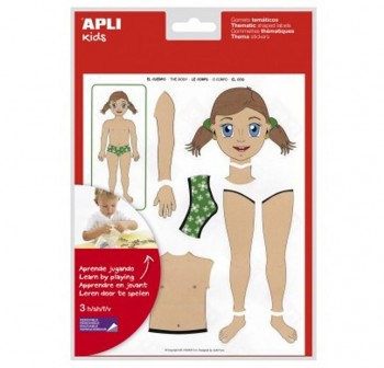 APLI Bolsa gomets adhesivas removible cuerpo 2hojas