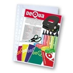 DEQUA Caja de funda 16 multitaladro PP extra folio transparente extra (100)