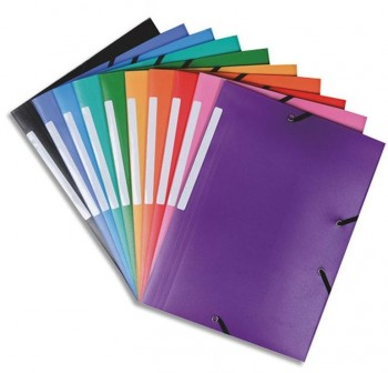 DEQUA Carpeta folio elastico 3solapas PVC ROJO