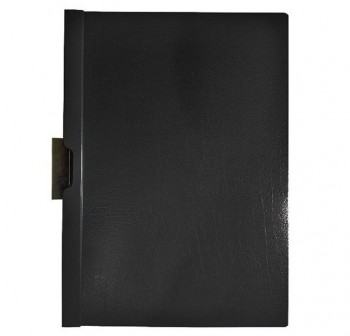 DEQUA Pack de 5 dossiers con clip A4 negro