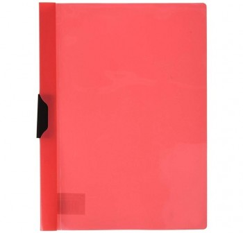 DEQUA Pack de 5 dossier con clip A4 rojo