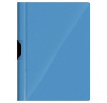 DEQUA Pack de 5 dossier con clip A4 azul