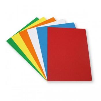 Dequa Pack 50 subcarpetas Dequa cartulina folio 180g colores vivos amarillo