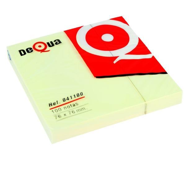 DEQUA Notas q/pon 76x76 amarillo (12)