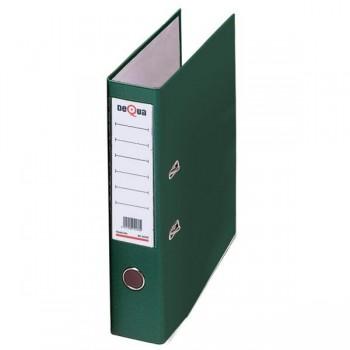 Archivador con rado cartón Dequa A4 70mm verde