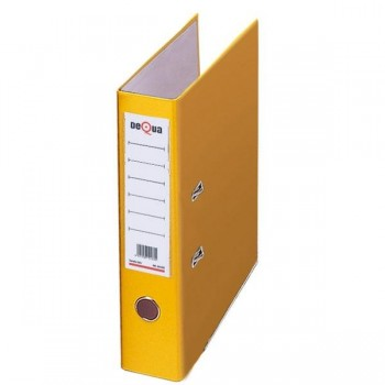 Archivador con rado cartón Dequa A4 70mm amarillo