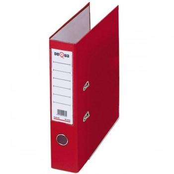 Archivador con rado cartón Dequa folio 70mm rojo