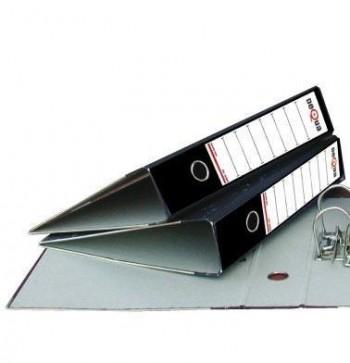 Archivador clasico Dequa folio jaspeado gris oscuro