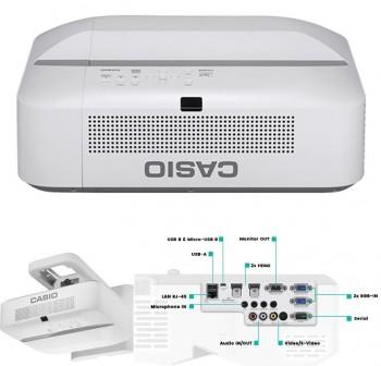 CASIO  Videoproyector ultra corto XJ-UT351WN 3500AL, WXGA, ratio 0,28:1 contraste 20000:1, 1,07 bill