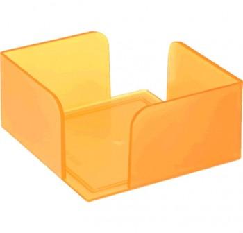 Portanotas con taco Archivo 2000 10X10 cm naranja translúcido