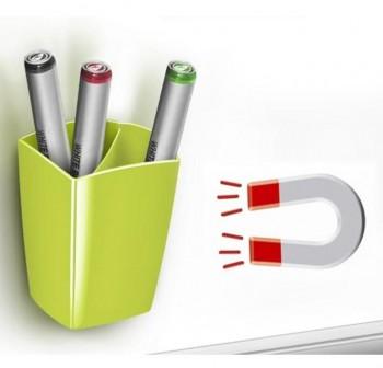 Cubilete magnético 2 compartimentos con imán para superficies de metal (pizarras blancas, armarios,e