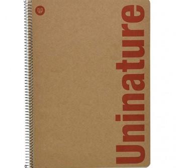 Cuaderno uninature folio 80h cuadricula 4 reciclado