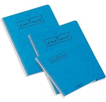 Cuaderno papyrus 02 4º 80h liso azul