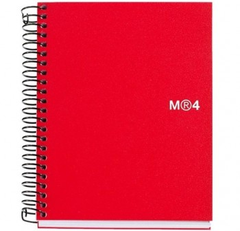 Cuaderno microperforado note book-4 basic a6 140h rojo Miquel Rius