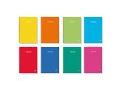 Pack 5 Cuadernos tapa dura Pacsa folio 80h cuadricula 4 colores surtidos