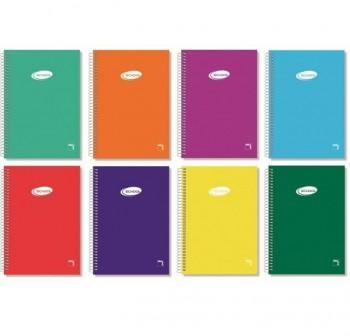 Cuaderno tapa cartóncillo Pacsa 4º 80h milimetrado