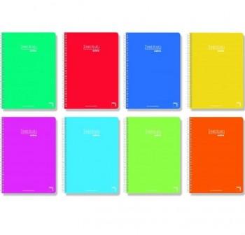 Cuaderno tapa cartóncillo Pacsa 8º 80h cuadricula 4