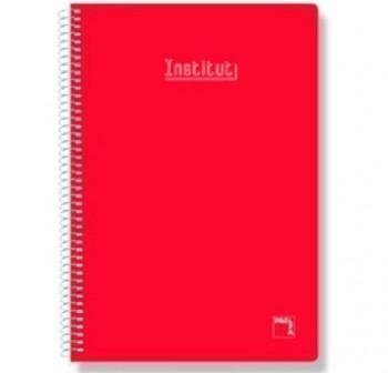 Cuaderno tapa contracolada 4º 80h rayado horizontal rojo