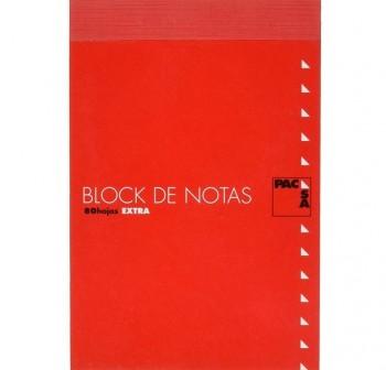 Bloc notas con tapa 80h cuadrícula 4x4 folio 60gr