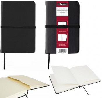 Cuaderno tapa dura minimal black m1c 64h 64x106mm negro
