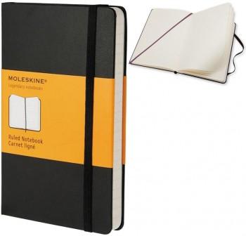 Cuaderno classic Moleskine tapa dura pocket 192h rayado color negro