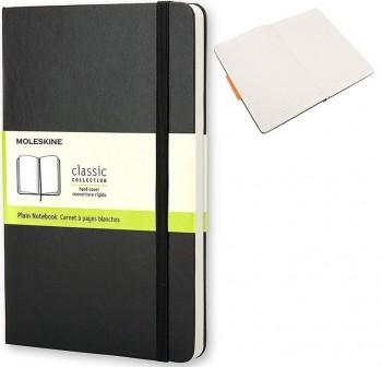 Cuaderno classic Moleskine tapa dura large 240h rayado color negro
