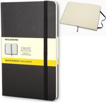 Cuaderno classic Moleskine tapa dura pocket 192h cuadrícula 5x5 color negro